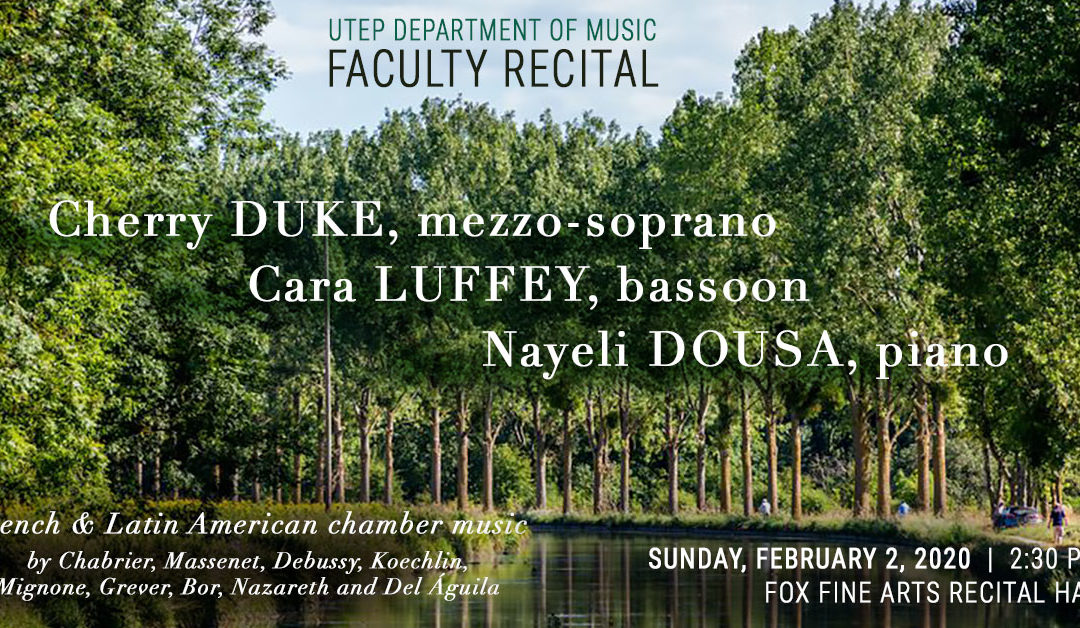 Faculty Recital at UTEP – 02/02/20