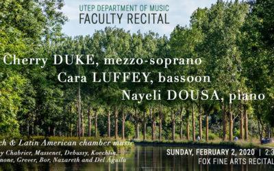 Faculty Recital at UTEP – 02/02/20