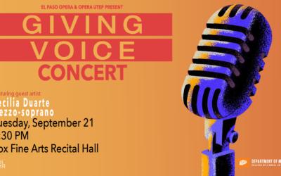 GIVING VOICE Festival: Opera UTEP Concert – 09/21/21